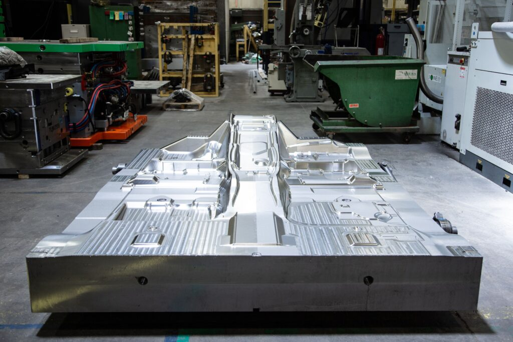 Half of large injection mold